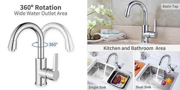 grifo para lavabo o cocina con aireador extraíble y gran relación calidad-precio