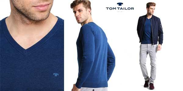 Suéter de pico Tom Tailor Basic V-Neck chollo en Amazon Moda