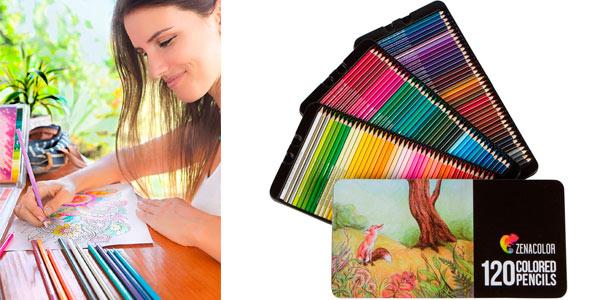 Lápices de colores Zanacolor en caja metálica baratos en Amazon