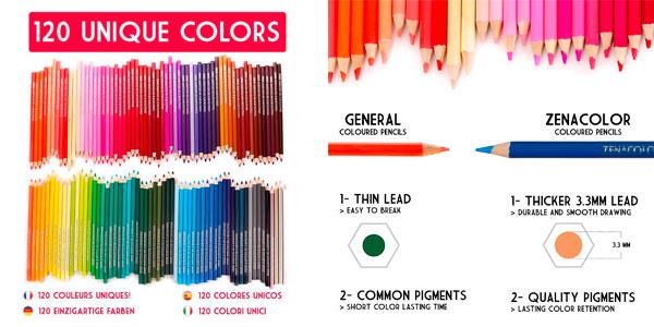 120 lápices de madera Zanacolor baratos en Amazon