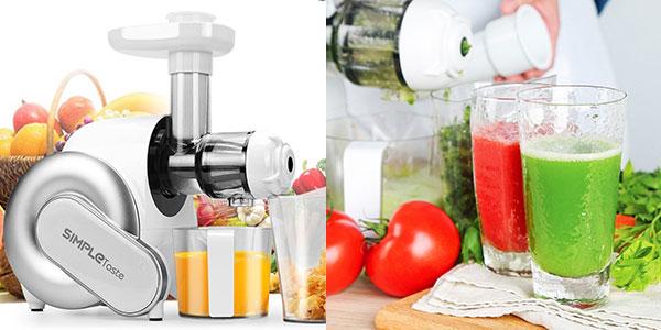 Licuadora eléctrica SimpleTaste de frutas y verduras en oferta