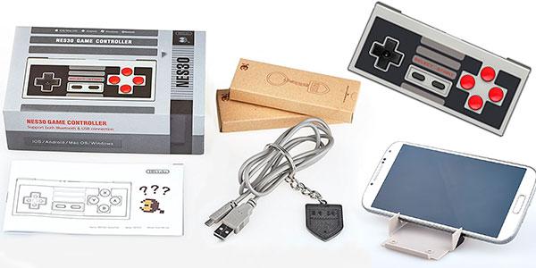 Mando bluetooth 8Bitdo Classic Nintendo NES30 para Android e iOS rebajado