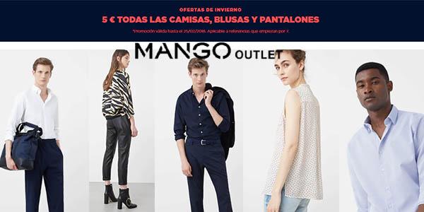 Mango Outlet pantalones, camisas y blusas baratas febrero 2018
