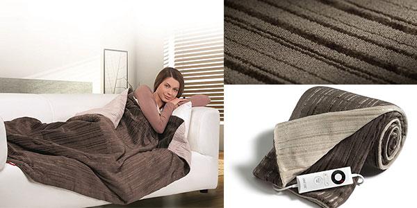Manta eléctrica de microfibra Imetec Relaxy IntelliSense TH02 de 140 x 180 cm barata