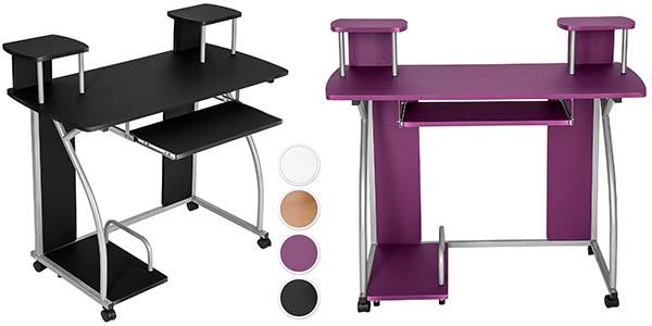 Mesa de ordenador compacta en mdf y metal por s lo 49 95 for Mesa escritorio barata