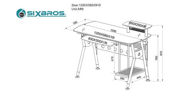 Mesa de escritorio y ordenador SixBros. CT-3783 chollo en eBay España