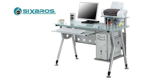 Mesa de escritorio y ordenador SixBros. CT-3783 barata en eBay España