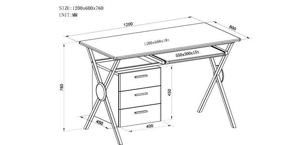 Mesa de escritorio y ordenador SixBros. S-356/1130 barato en eBay