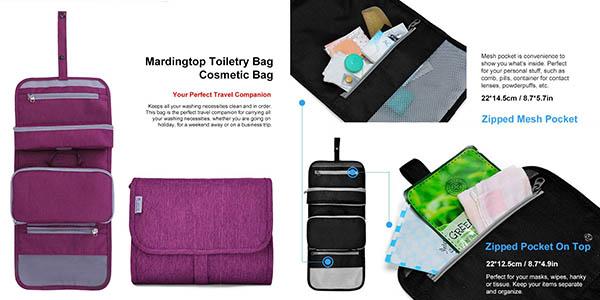 neceser desmontable ideal para llevar en la maleta de tejido resistente y con gran relación calidad-precio