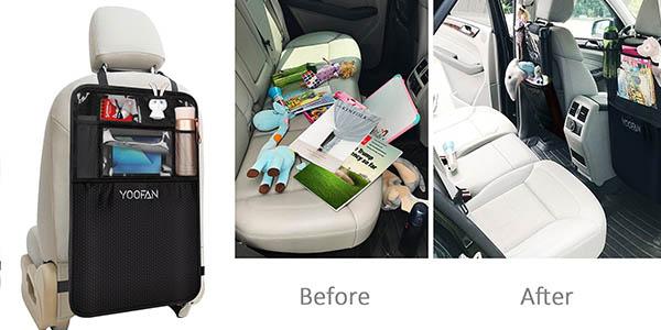 Pack 2 organizadores asiento trasero coche prácticos oferta