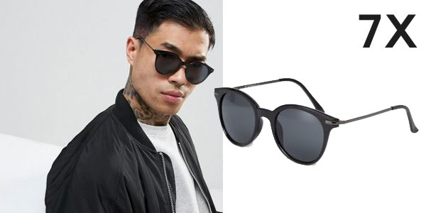 Pack de 2 pares de gafas de sol 7X redondas de para hombre chollazo en Asos