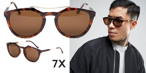Pack de 2 pares de gafas de sol 7X redondas de para hombre chollo en Asos