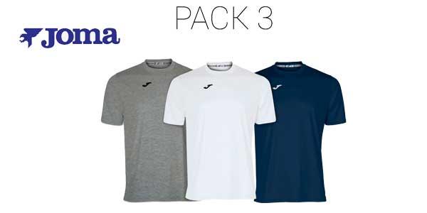 Pack multicolor de 3 camisetas Joma para hombre barato en eBay
