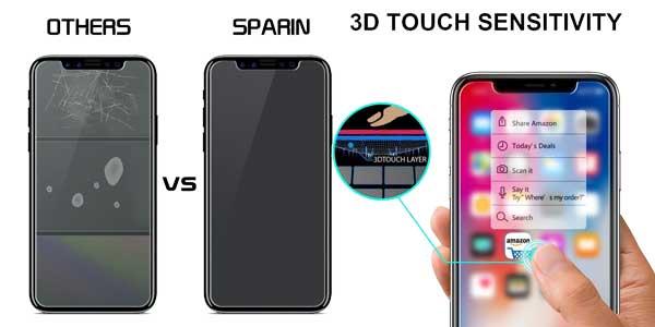 Pack de 3 Protectores de pantalla cristal templado para iPhone X Sparin chollo en Amazon