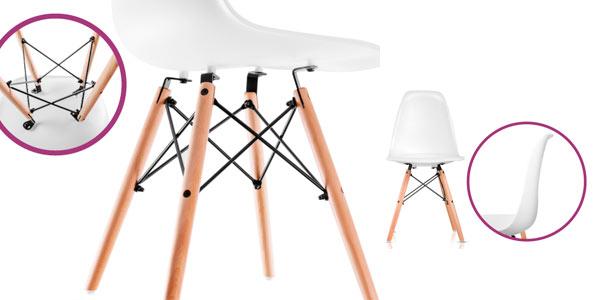 Pack 4 sillas réplica Tower de diseño nórdico baratas en eBay