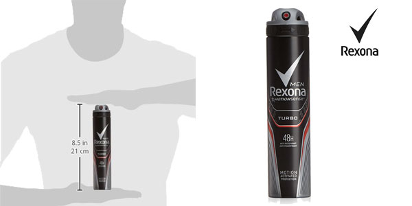 Pack 6 unidades de desodorante Rexona turbo para hombre chollo en Amazon
