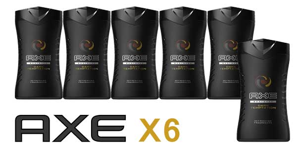 Pack x6 Axe Dark temptation barato en Amazon