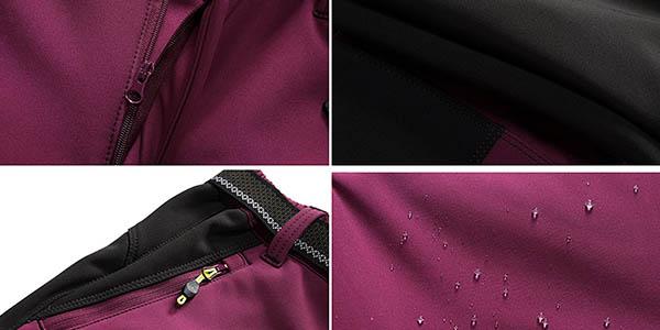 pantalón de trekking tejido softshell con genial relación calidad-precio