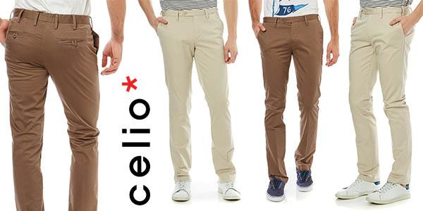 pantalones chinos Celio Doger 2 para hombre baratos