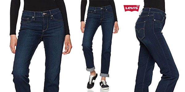 Pantalones vaqueros Levi's 314 Straight Jeans para mujer chollo en Amazon Moda