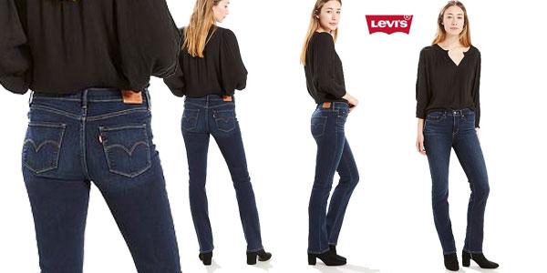 Pantalones vaqueros Levi's 314 Straight Jeans para mujer baratos en Amazon Moda
