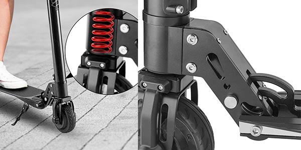 patinete eléctrico Fitfiu en fibra de carbono ligero y a precio brutal