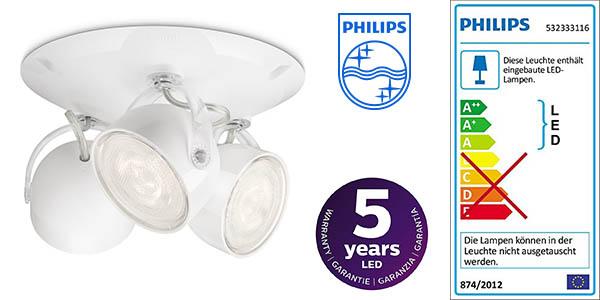 Philips myLiving Dyna plafón de 3 focos LED barato