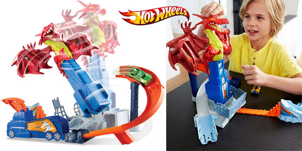 Juego creativo Dragon Attack de Hot Wheels chollo en Amazon España