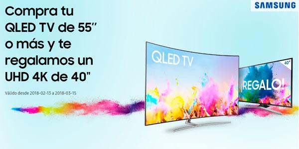 afbccea5f1f Promoción comprar una Samsung QLED de 55 o más y llévate de regalo otro  televisor de