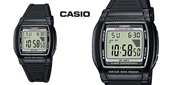 Chollo Reloj digital Casio Collection W-201-1AVEF para mujer por ... a7af13632307