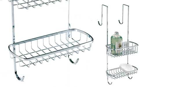 Estantería para ducha InterDesign Gia para colgar en acero inoxidable barata en Amazon