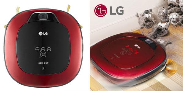 Robot aspirador Hombot LG VR6347LV de colores rojo y negro barato
