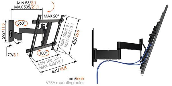 soporte pantallas Vogel's Wall relación calidad-precio brutal