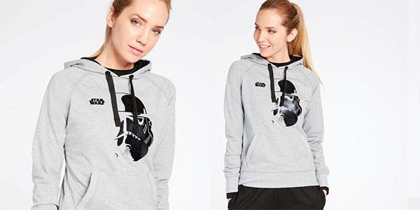 Sudadera Star Wars Stormtrooper gris con capucha para mujer rebajada
