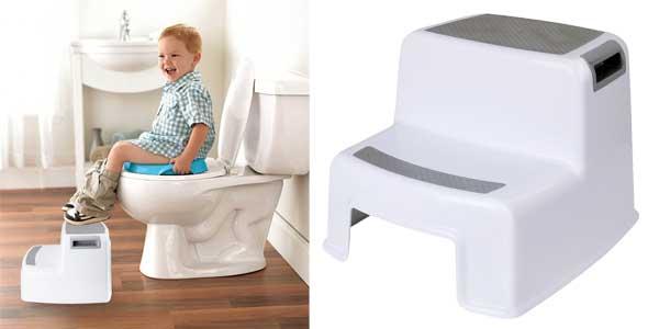 Taburete antideslizante WC para niños Cusfull barato en Amazon