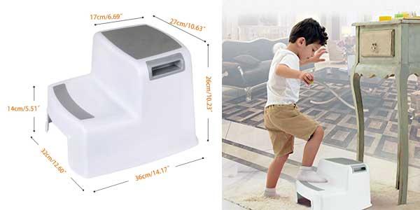 Taburete antideslizante WC para niños Cusfull chollo en Amazon