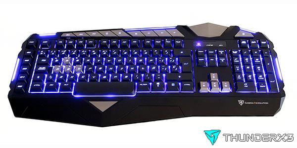 Teclado gaming ThunderX3 TK25 de membrana LED anti-ghosting