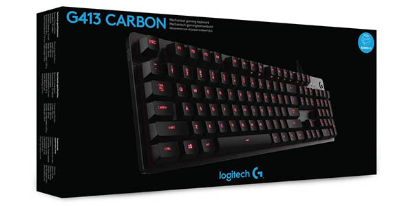 Teclado mecánico gaming Logitech G413 Carbon barato