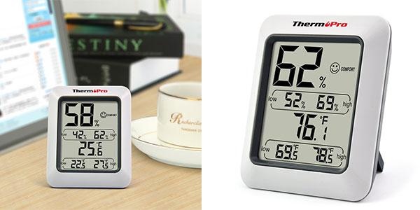 Termómetro higrómetro digital ThermoPro con pantalla LCD barato