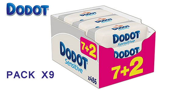 Pack 9 paquetes de Toallitas Dodot Sensitive barato en Amazon España