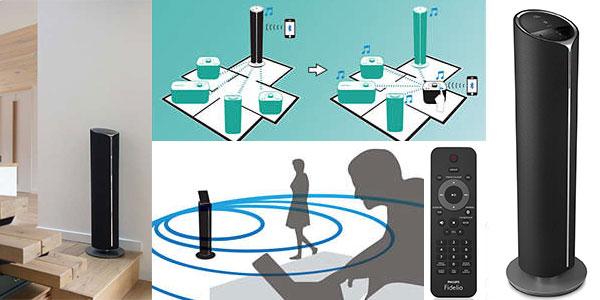 Torre de sonido multiroom Philips Fidelio BM90/12 inalámbrica con CD, USB y Bluetooth rebajada