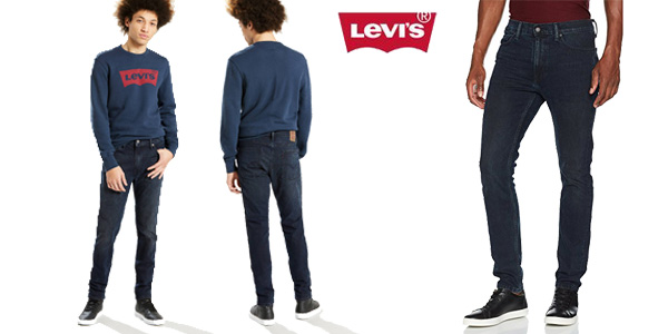 Vaqueros Levi's 510 Skinny Fit en color Azul Darkbuster para hombre chollazo en Amazon Moda