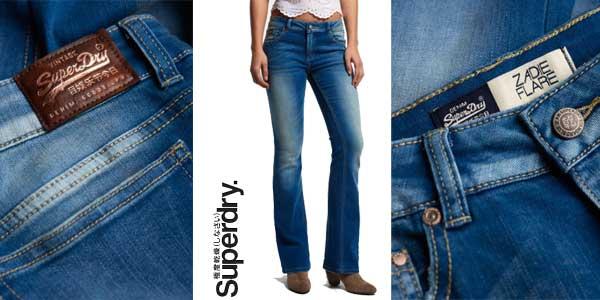 Pantalones vaqueros Superdry Zadie Kick Bjorn para mujer chollo en eBay