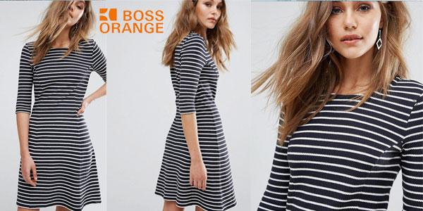 Vestido Boss Orange by Hugo Boss en color azul para mujer chollo en Amazon Moda