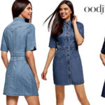 Vestido vaquero con botones de Oodji Ultra para mujer barato en Amazon Moda