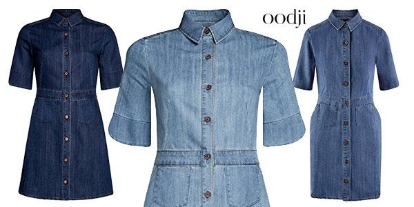 8eafb042e Vestido vaquero con botones de Oodji Ultra para mujer chollazo en Amazon  Moda