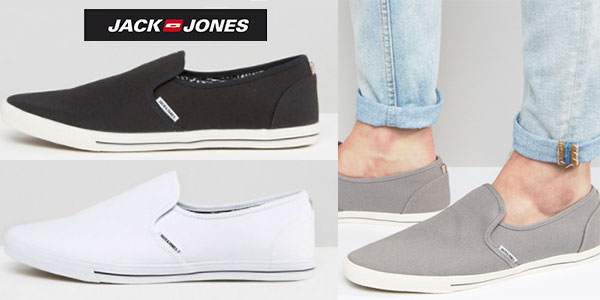 Zapatillas Jack & Jones de lona sin cordones en oferta
