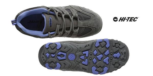 Zapatillas de senderismo Hi-Tec Quadra Classic para mujer en color gris chollo en Amazon