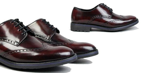 Zapatos de vestir Mark Davies Pelayo en color marrón granate para hombre chollazo en Ulanka
