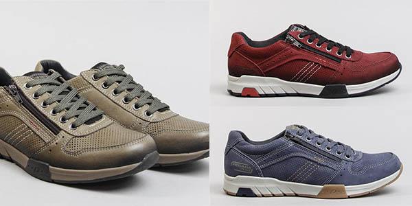 zapatos Pegada 16402 en piel de diseño casual oferta